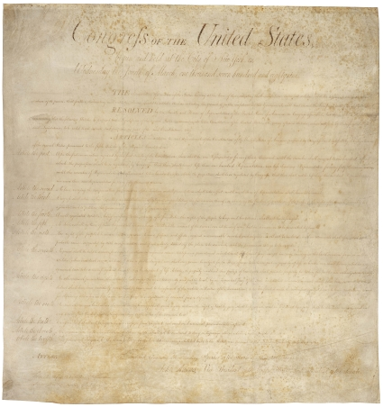 Bill of Rights – Celebrating its 218th Birthday