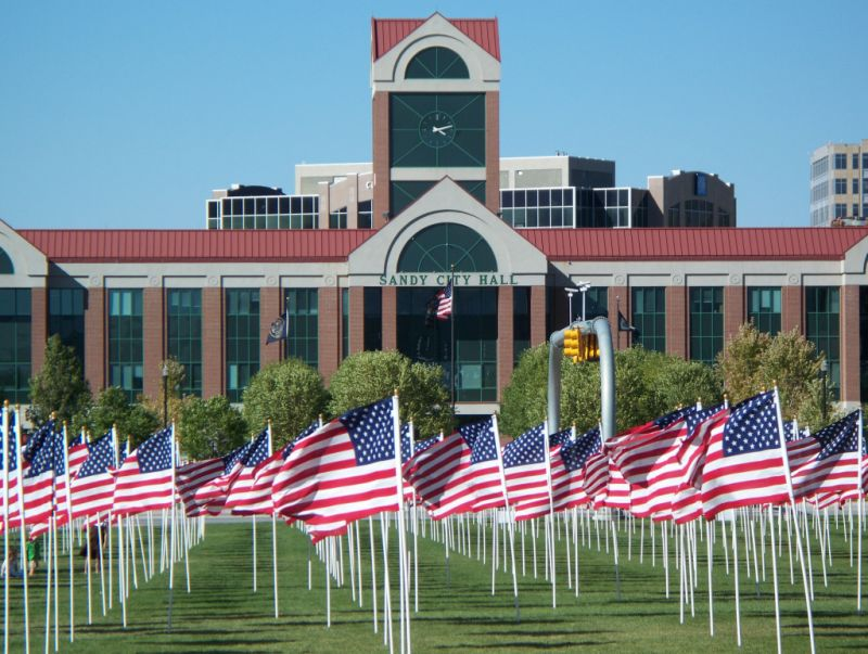 Healing Field in front of the City Hall in Sandy, Utah