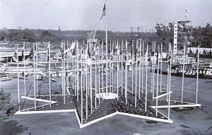 Tomorrowland's Court of Honor exhibit, Disneyland, 1955-1956