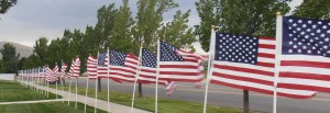Utah's service men and women return home greeted by a flag lined street.