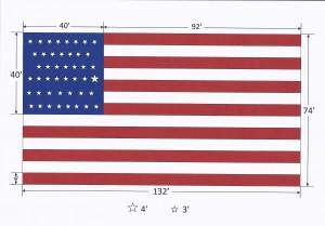 Mammoth Utah Statehood Flag