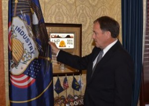 The Correct Utah State Flag Is Now In Governor Herbert's Office