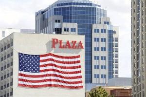 Big Flag on Plaza