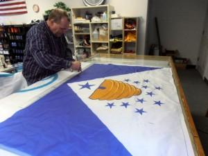 Bill Wing trims NAVA 47 flag
