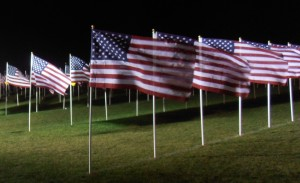 A Visit to a Healing Field Flag Display