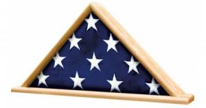 Folden flag in OAK Case